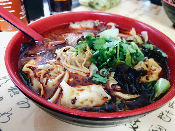 Spicy noodle soup from Spice-C Philadelphia chinatown