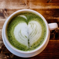 Matcha tea latte A La Mousse Chinatown Philadelphia