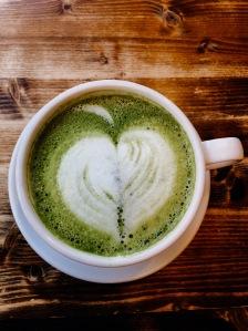 Matcha latte A La Mousse Philadelphia