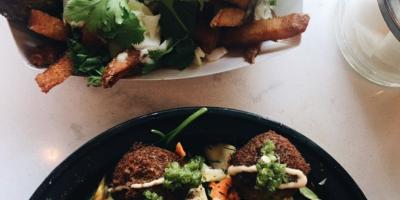 Falafel Salad & Fry Boat Goldie Philadelphia