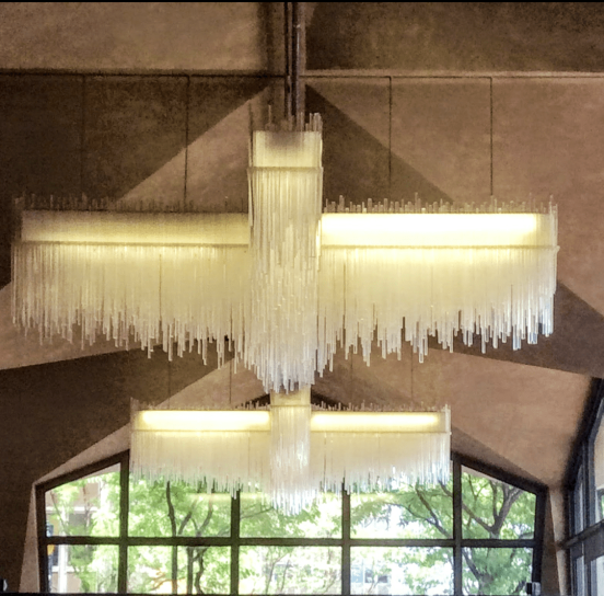 Modernist chandeliers Rohm & Haas Philadelphia