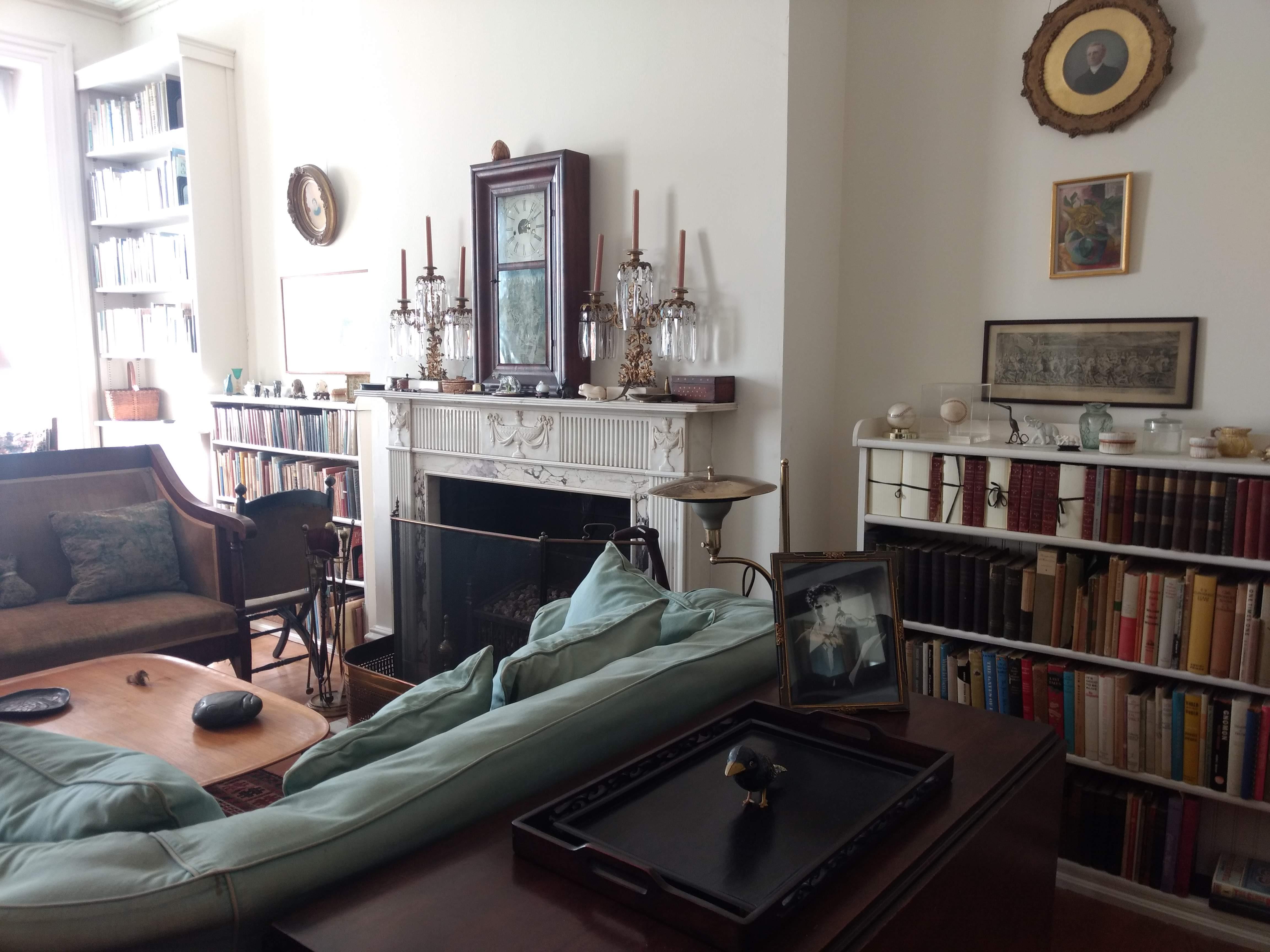 Marianne Moore's living room Rosenbach Library Philadelphia