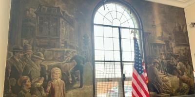 New Deal post office mural Philadelphia